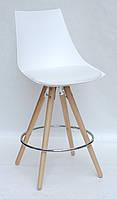 Полу-барный стул Клим KLIM BAR 65 в стиле лофт, белый 07