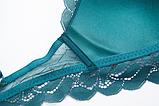 Комплект женского нижнего белья Lux4ika размер 75С классический с нежным кружевами Зеленый (vol-556), фото 4