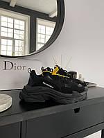 Кроссовки женские Balenciaga Triple S Black черные