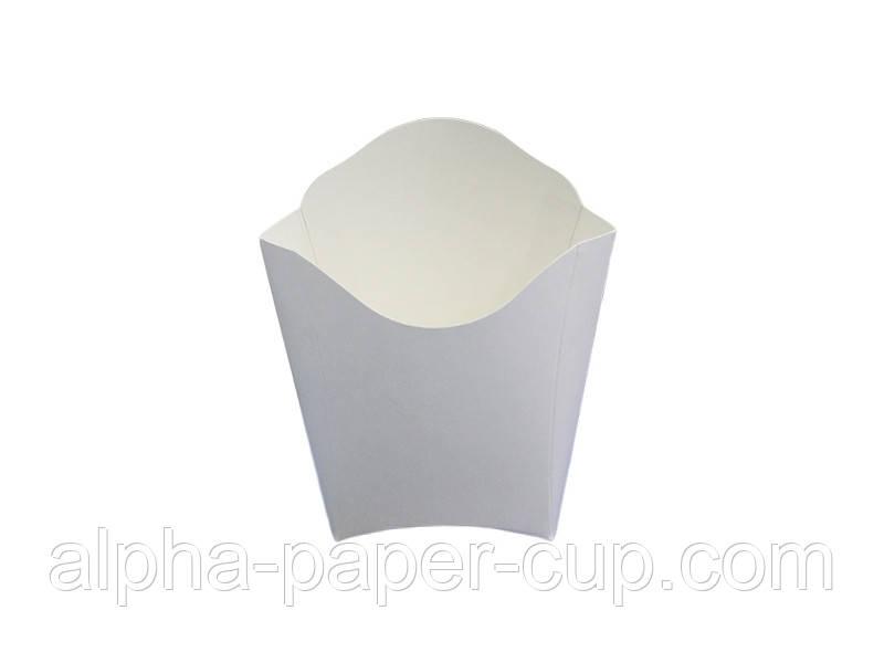 Упаковка фри Mini белая, 50 шт/уп, 40 уп/ящ.
