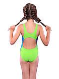 Спортивный купальник для девочки Keyzi, от 7 до 14 лет, Rainbow, фото 2