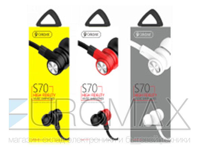 Наушники вакуумные с микрофоном (уп. 20шт) Celebrat 200шт S70