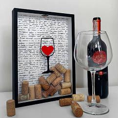 Копилка для винных пробок 31х22х4см I like wine