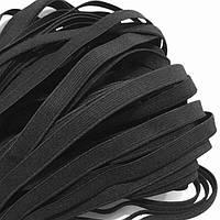 Резинка тканая мягкая 010мм цв черный (уп 25м) 3917 Укр-б