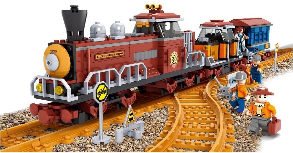 Детский конструктор Железная дорога 662 деталей
