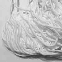 Резинка для медицинских масок округленная 2,5мм цв белый ZG