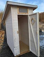 Душевая кабинка деревянная для дачи, турбазы, душ 1.3х1.7