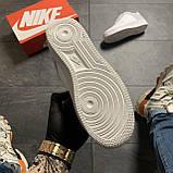 Женские кроссовки Nike Air Force Low ACW White, Женские Найк Аир Форс Лоу Кожаные Белые, фото 7