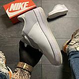 Женские кроссовки Nike Air Force Low ACW White, Женские Найк Аир Форс Лоу Кожаные Белые, фото 4