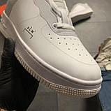 Женские кроссовки Nike Air Force Low ACW White, Женские Найк Аир Форс Лоу Кожаные Белые, фото 8