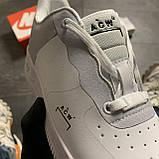Женские кроссовки Nike Air Force Low ACW White, Женские Найк Аир Форс Лоу Кожаные Белые, фото 9