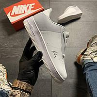Женские кроссовки Nike Air Force Low ACW White, Женские Найк Аир Форс Лоу Кожаные Белые