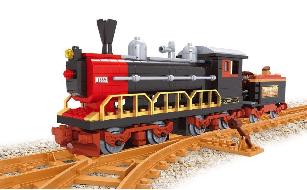 Детский конструктор Brik Station Поезд 406 деталей