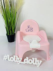 Горшок стульчик музыкальный Tega Кролики, Розовый