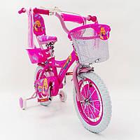 """Детский велосипед Beauty-1 Barbie 14"""" для девочек от 3 до 6 лет"""