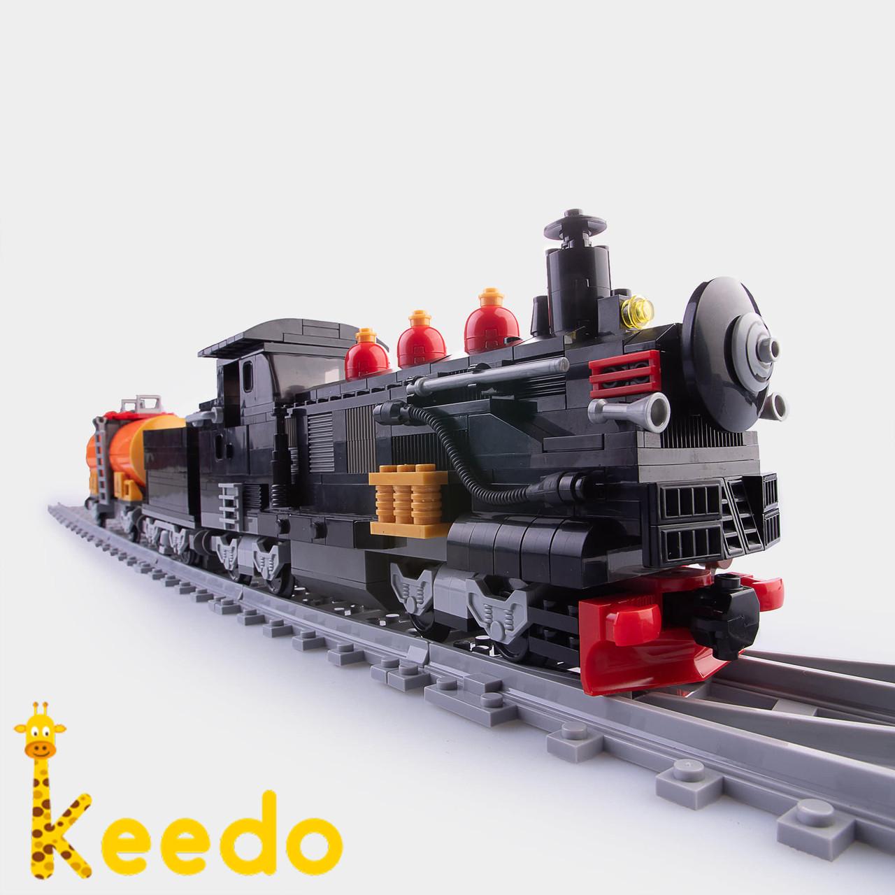 Детский конструктор Brik Station Поезд 586 деталей