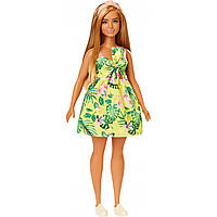 Кукла Барби Модница в тропическом платье Barbie Fashionistas Doll Type 126 FXL59
