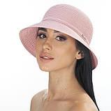 Коричневая летняя шляпа с небольшими полями, фото 3
