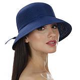 Коричневая летняя шляпа с небольшими полями, фото 4