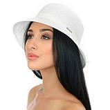 Коричневая летняя шляпа с небольшими полями, фото 5