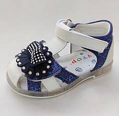 Детские сандалии сандали босоножки для девочки синие Y.TOP 23р 14см