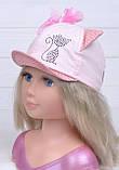 Кепка Кисуля р.50 розовый 2 года, 2.5 года, 3 года, 50, Белый, фото 5