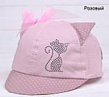 Кепка Кисуля р.50 розовый 2 года, 2.5 года, 3 года, 50, Белый, фото 6