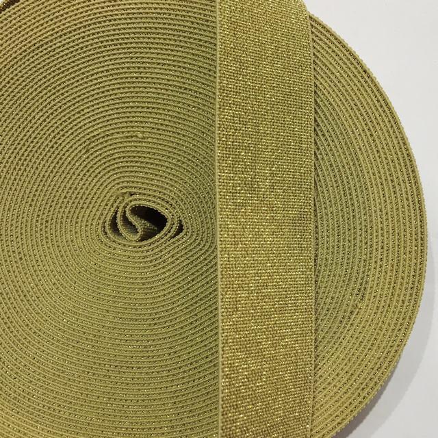 Резинка Люрекс 30мм цв золото (уп 25м) New Star