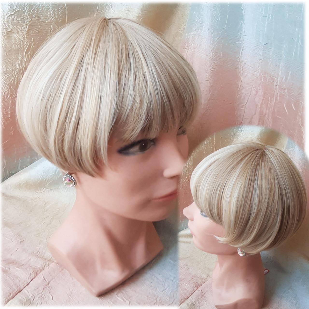 Парик боб-каре прямое термоволос пшеничный блонд 2724t-24H613