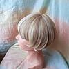 Парик боб-каре прямое термоволос пшеничный блонд 2724t-24H613, фото 3