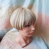 Парик боб-каре прямое термоволос пшеничный блонд 2724t-24H613, фото 5