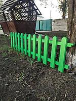 Деревянная штакетка из дуба LNK секция 2000 на 50см в зелёном цвете, фото 1