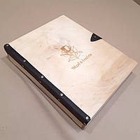 Подарочная деревянная коробка с гравировкой. Коробки декоративные деревянные.