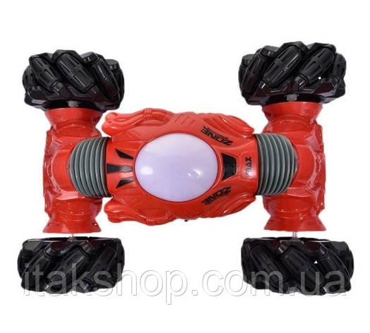 Трюковая машинка перевертыш Climber Champions 2766 (браслет и пульт) Красная, фото 2