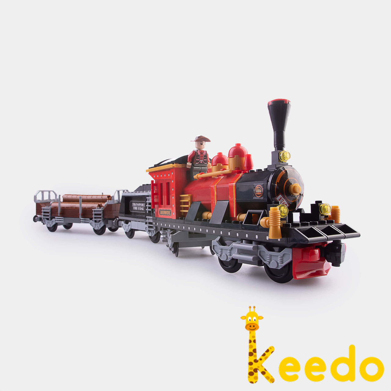 Детский конструктор Brik Station Поезд 410 деталей