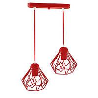 Подвесной  светильник, индустриальный стиль стиль, loft, vintage SKRAB-2 Е27  красный, фото 1