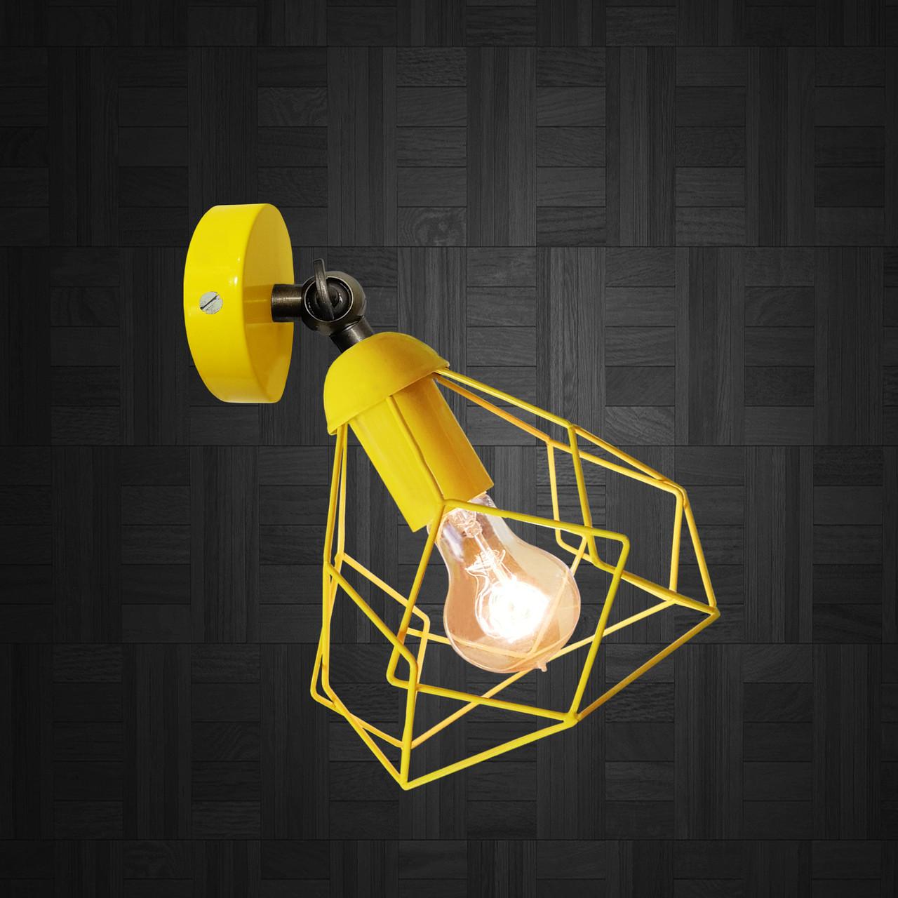 """Настенный светильник, бра поворотное, потолочная лампа  """"RUBY/LS"""" желтый"""