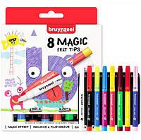 Набір дитячих фломастерів MAGIC, 8кол., товстий стрижень, Bruynzeel 60126008