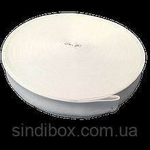 Широкая бельевая резинка для одежды Sindtex белая 3,5 см х 22,5 м (СИНДТЕКС-0056)