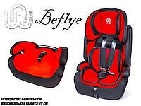 Автокресло-бустер 2-в-1 детское Be Flye универсальное КРАСНОЕ, группа 1/2/3, вес ребенка 9-36 кг