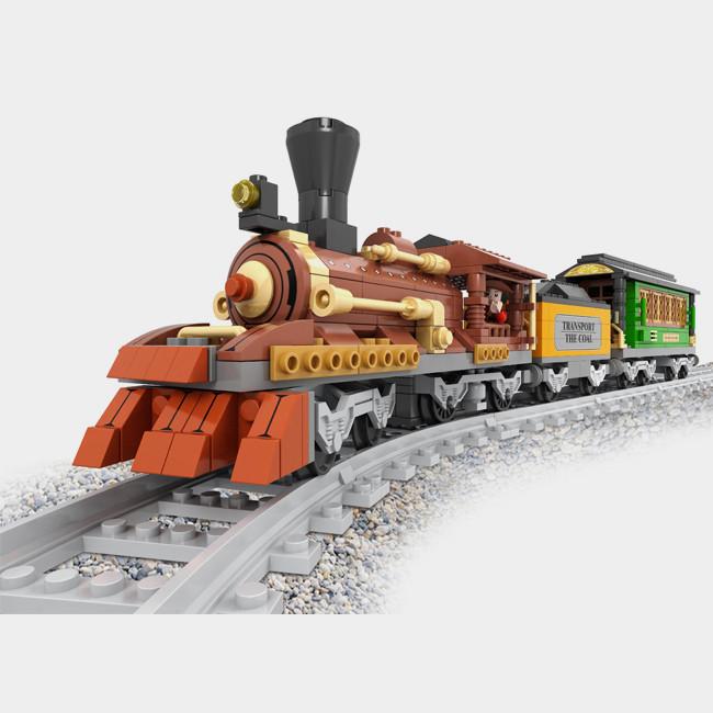 Детский конструктор Brik Station Поезд 483 детали