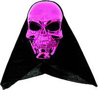 Маска череп смерть с накидкой (малиновый) 240216-143