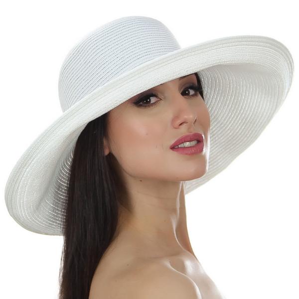 Шляпа женская летняя широкополая 13 см цвет белый