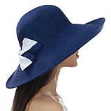 Шляпа женская летняя широкополая 13 см цвет белый, фото 3