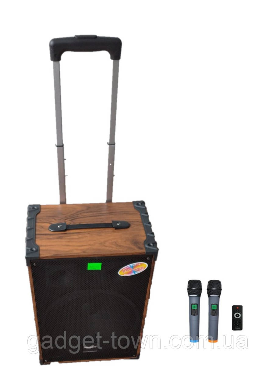 Портативная колонка Temeisheng A 12-42 с радиомикрофонами / 180W (USB/Bluetooth/)