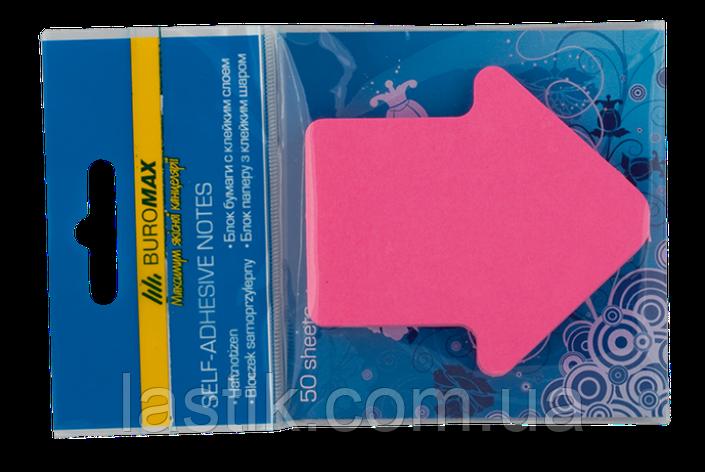Блок бумаги для записей СТРЕЛКА, 50 л, ассорти, фото 2