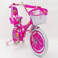"""Детский велосипед Beauty-1 Barbie 16""""  для девочек от 4 до 7 лет"""