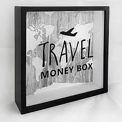 Деревянная копилка для денег 22х22х5см Travel