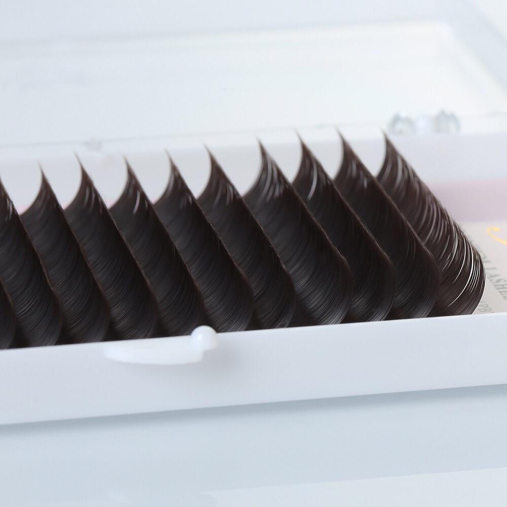 """Вії темний шоколад """"YELIX"""", окремі довжини"""