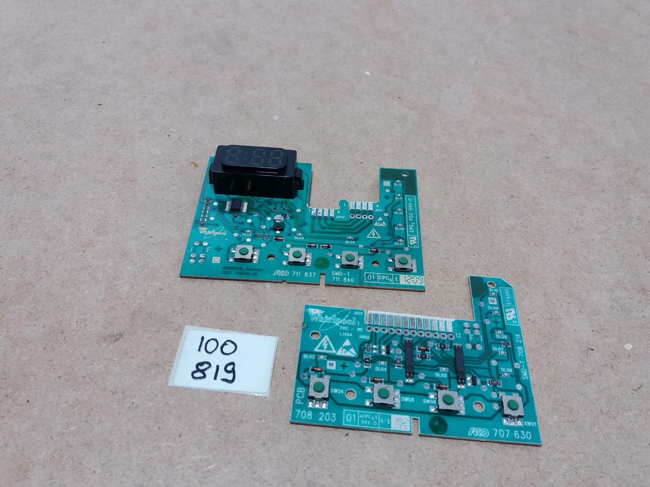 Модуль индикации  Whirlpool 75AWE7515/1.  461973072041, 491971403791 Б/У